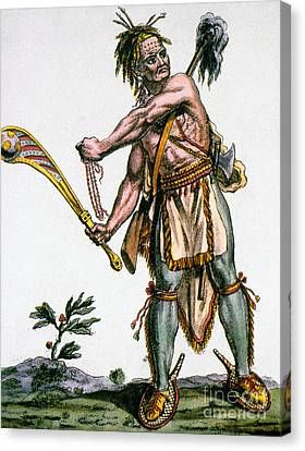 Iroquois Warrior Canvas Print by Granger