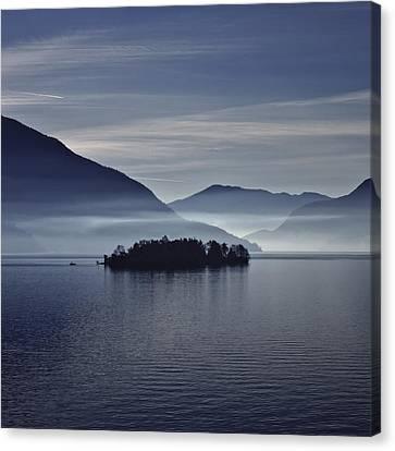 Island In Morning Mist Canvas Print by Joana Kruse