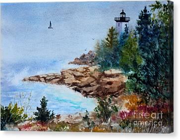 Island Light Canvas Print by Laura Tasheiko
