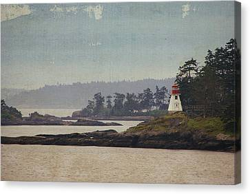 Island Lighthouse - Textured Canvas Print by Marilyn Wilson