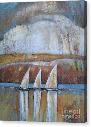 Island Rain Canvas Print by Kip Decker