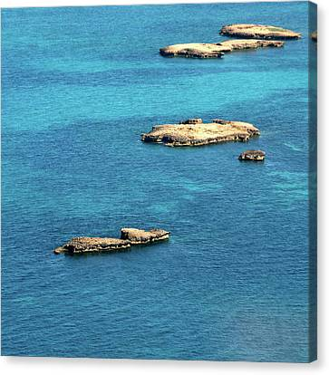 Islets Islands Canvas Print by Judy Dunlop
