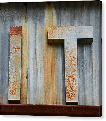 It Rusty Sign Canvas Print by Nikki Marie Smith