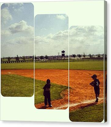 It Was A Great Day For Tball... #sports Canvas Print by Kel Hill