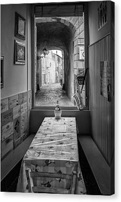 Italian Cafe Canvas Print by Michael Avory