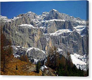 Italian Dolomites ... Canvas Print by Juergen Weiss
