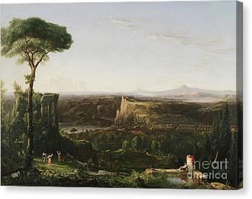 Italian Scene Composition Canvas Print by Thomas Cole