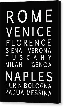Italy Cities - Bus Roll Style Canvas Print by Georgia Fowler