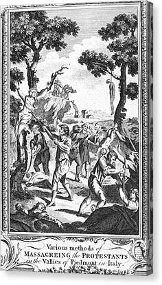 Italy: Protestant Martyrs Canvas Print by Granger