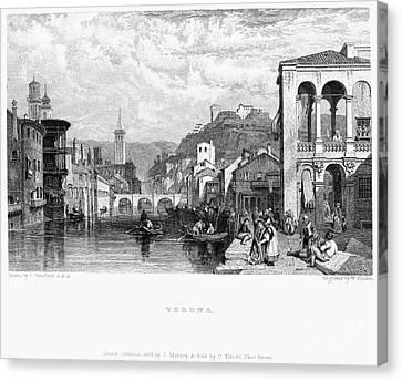 Italy: Verona, 1833 Canvas Print by Granger
