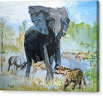 It's A Jungle Canvas Print by Judy Kay