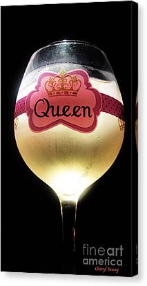 Its Good To Be The Queen Canvas Print by Cheryl Young