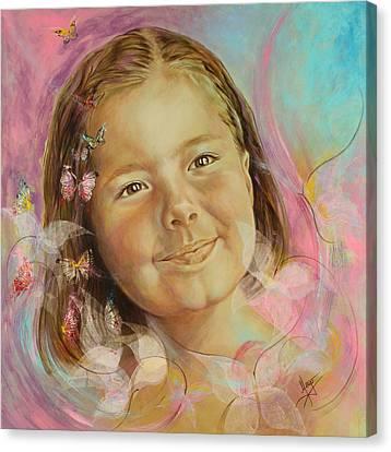 Ivana's Portrait Canvas Print by Karina Llergo Salto