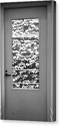 Ivy Door Canvas Print by Anna Villarreal Garbis