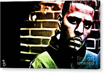 J Cole Canvas Print by The DigArtisT