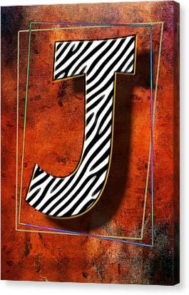 J Canvas Print by Mauro Celotti