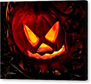 Jack-o-lantern Canvas Print by Christopher Holmes