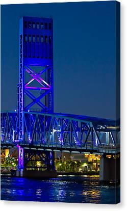 Jacksonville Skyline Canvas Print by Debra and Dave Vanderlaan