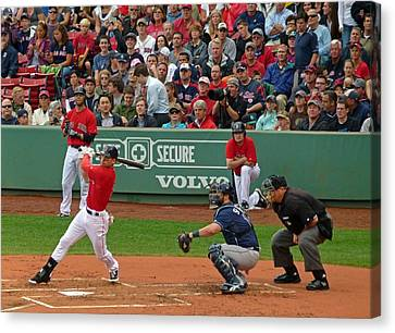Jacoby Ellsbury Canvas Print by Juergen Roth