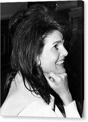Jacqueline Onassis Watching Canvas Print by Everett