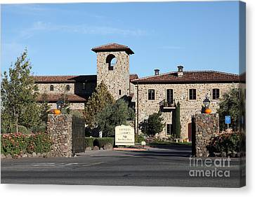 Jacuzzi Family Vineyards - Sonoma California - 5d19322 Canvas Print by Wingsdomain Art and Photography