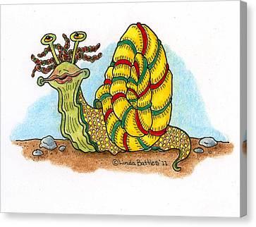 Jamaican Snail Canvas Print by Linda Battles