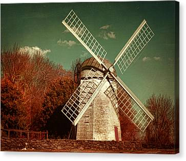 Jamestown Windmill Canvas Print by Lourry Legarde