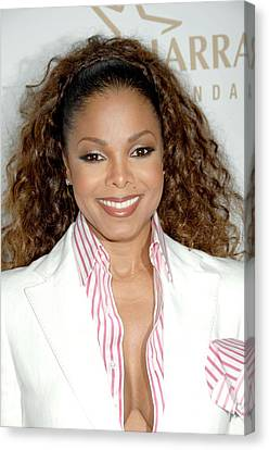 Janet Jackson At Arrivals For 19th Canvas Print by Everett