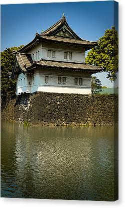 Japan Castle Canvas Print by Sebastian Musial