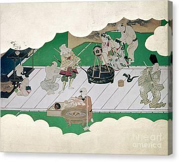 Japan: Kabuki Actors Canvas Print by Granger