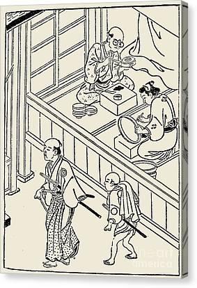 Japan: Samurai, 1700 Canvas Print by Granger