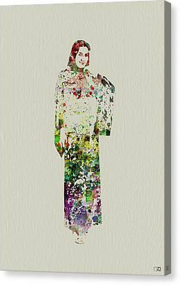 Japanese Woman Dancing Canvas Print by Naxart Studio