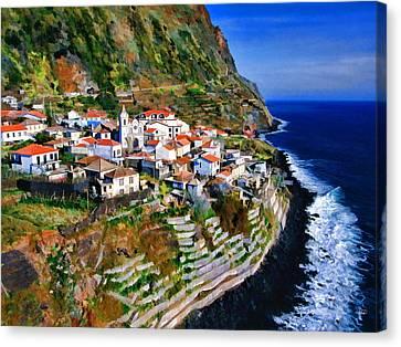 Jardim Do Mar Canvas Print by Dean Wittle