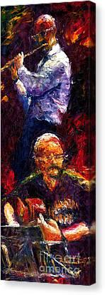 Jazz Duet 1 Canvas Print by Yuriy  Shevchuk