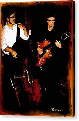 Jazz Musicians Canvas Print by Sadie Reneau