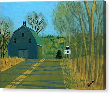 Jct 131 Canvas Print by Laurie Breton