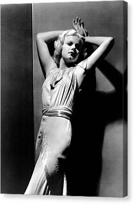 Jean Harlow, 1930s Canvas Print by Everett