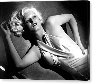 Jean Harlow, Fashion Still For Dinner Canvas Print by Everett