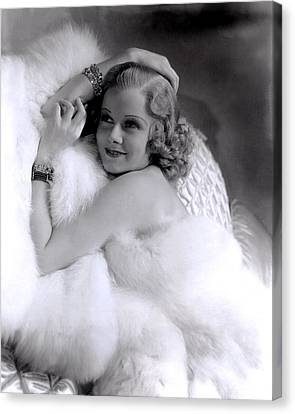Jean Harlow, Mgm, 1930s Canvas Print by Everett