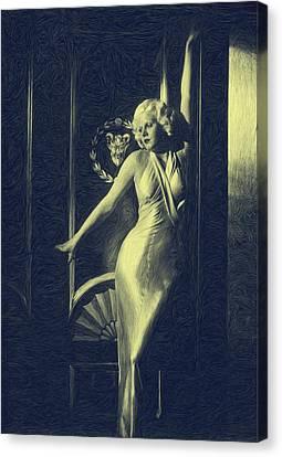 Jean Harlowe Canvas Print by Dwayne  Graham