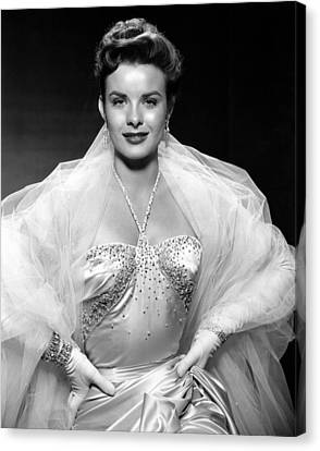 Jean Peters, Ca. Mid-1950s Canvas Print by Everett