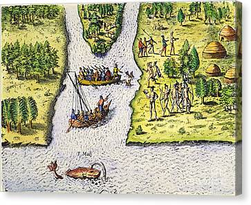 Jean Ribault: Florida, 1562 Canvas Print by Granger