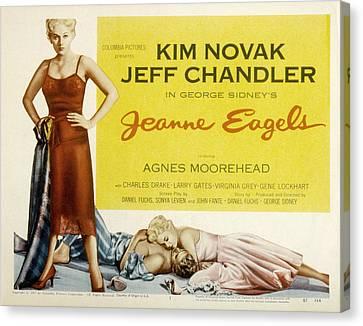 Jeanne Eagels, Kim Novak, Jeff Canvas Print by Everett
