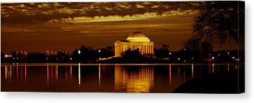 Jefferson Memorial - Panoramic Canvas Print by David Hahn