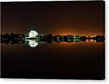 Jefferson Memorial Before Sunrise 1 Canvas Print by Val Black Russian Tourchin