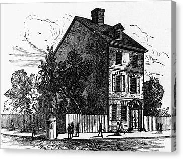 Jeffersons House, 1776 Canvas Print by Granger