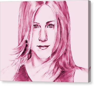 Jennifer Aniston Canvas Print by Attila Dancsak