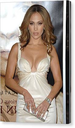 Jennifer Lopez Wearing A Roberto Canvas Print by Everett
