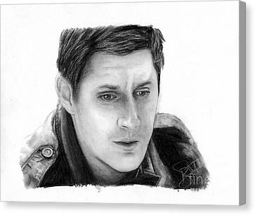 Jensen Ackles Canvas Print by Rosalinda Markle