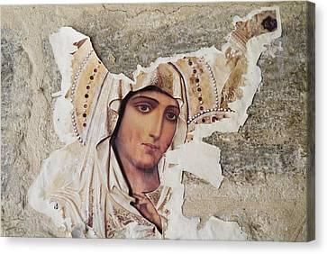 Jerusalem, Israel, Closeup Of Torn Canvas Print by Richard Nowitz